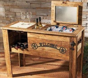 12 DIY Wooden Pallet Cooler Design