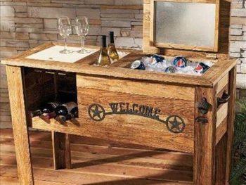 DIY Wooden Pallet Cooler Design