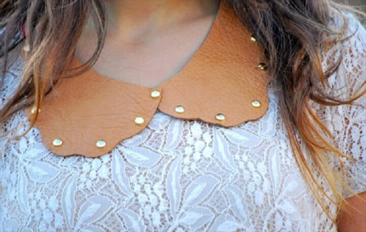 DIY Studded Collar Necklace