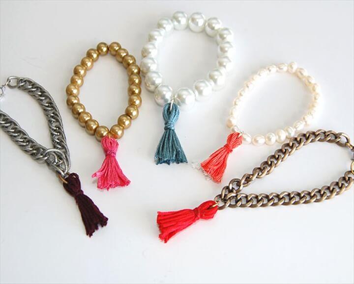 Thread Tassel Bracelet: