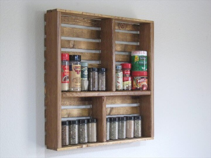 wooden spicer rack