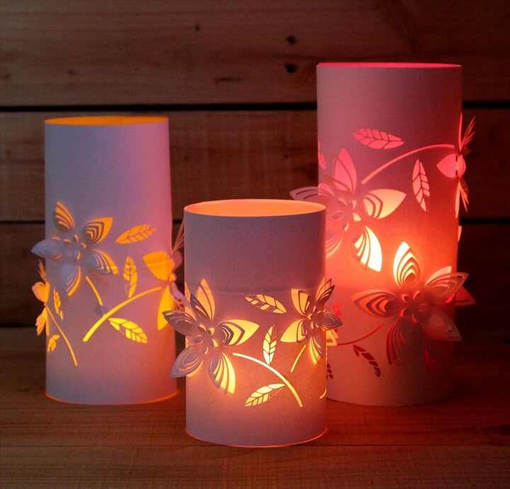 Beautiful tin can lanterns