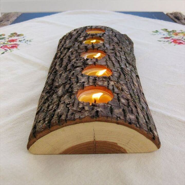 log wood candle