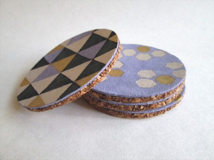 Painted Leather Coasters by Confessions of a Secret Crafter |