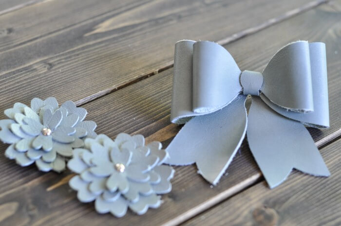 Sea Glass Flowers and Bow Barrettes