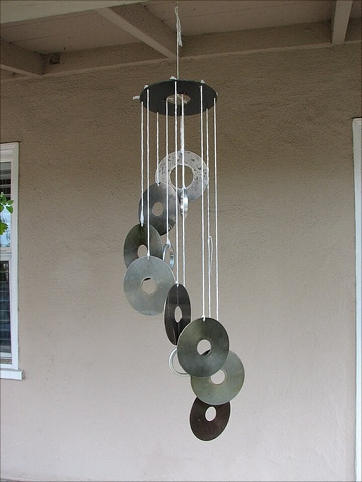 CD disk wind chime