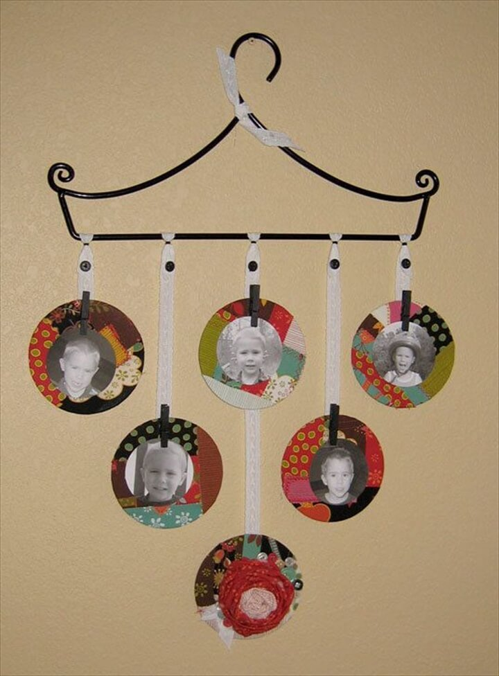 recycled cd pic frames.