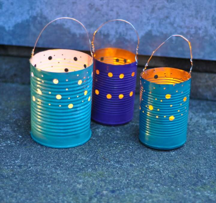 Amazing tin can lanterns
