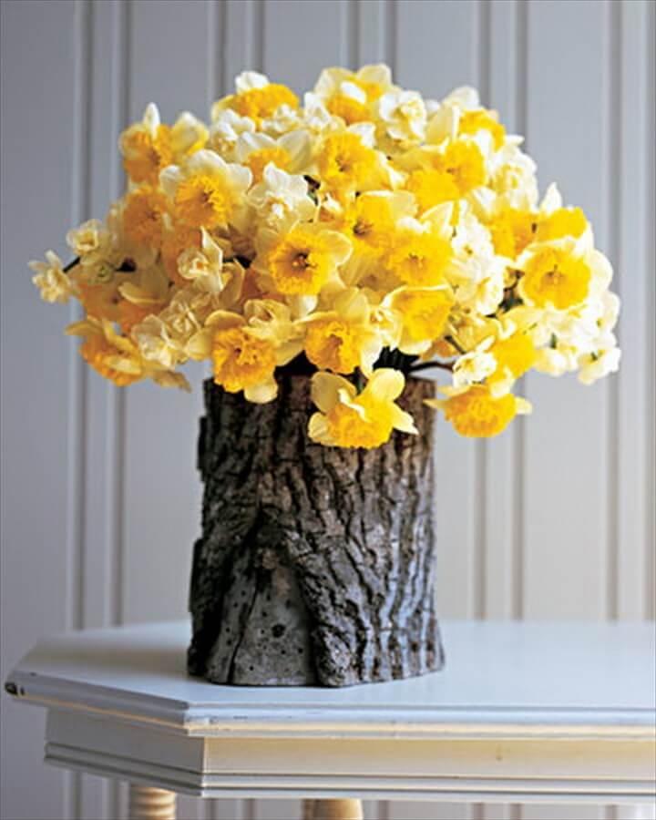 Tree Stump Flower Arrangement