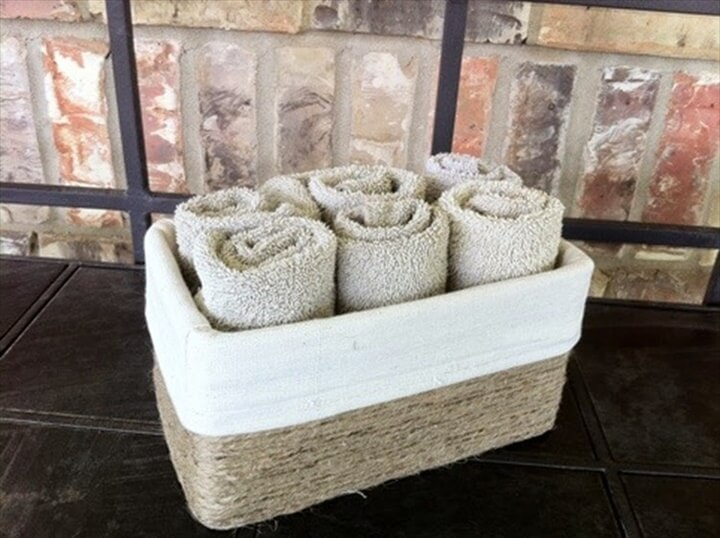 Faux storage basket