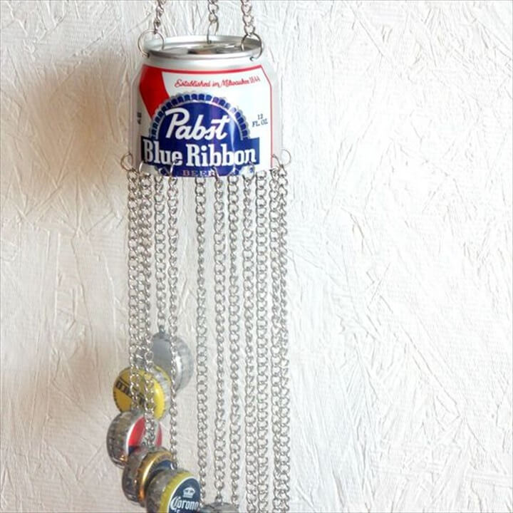 Beer Bottle Cap Windchime