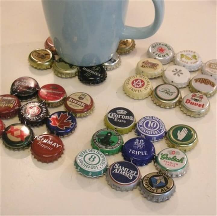 Bottle Cap Coasters,