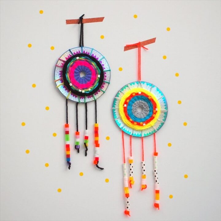 old cd dream catcher