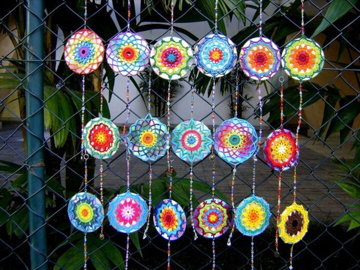 recycled cd windchime