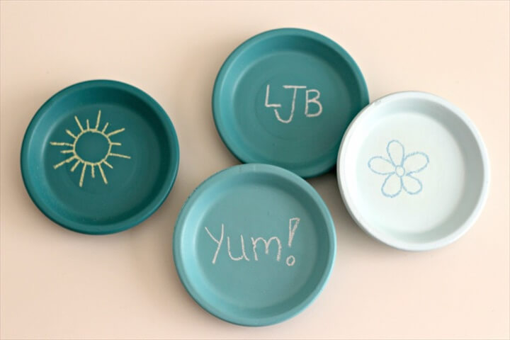 Chalkboard Ombre Coasters by Organize Your Stuff Now
