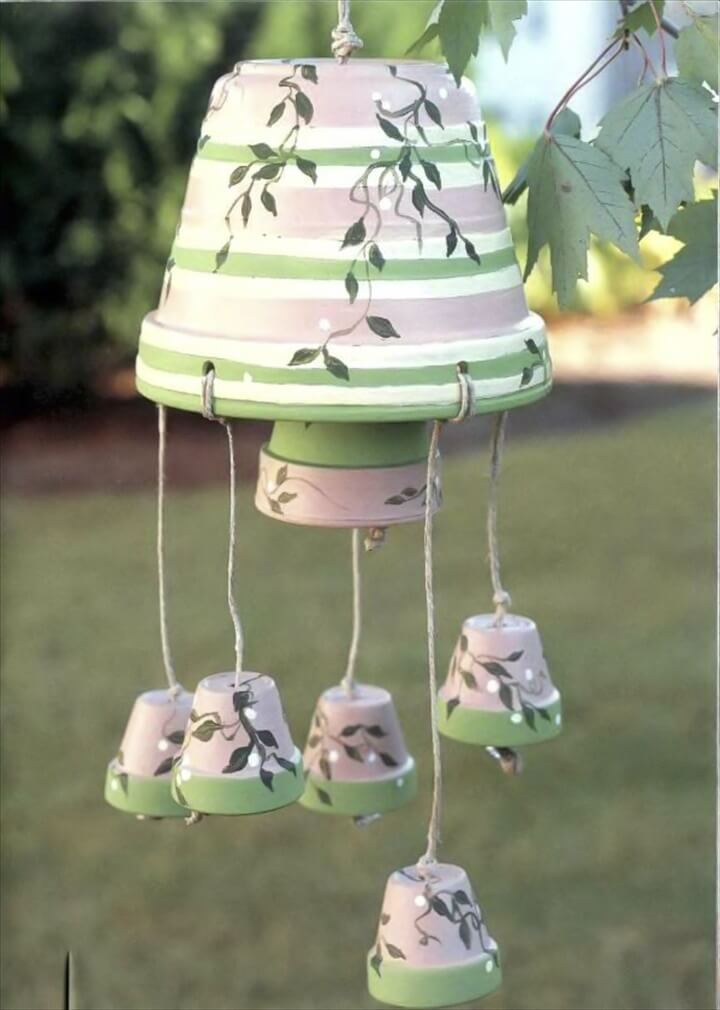 clay pots wind chime