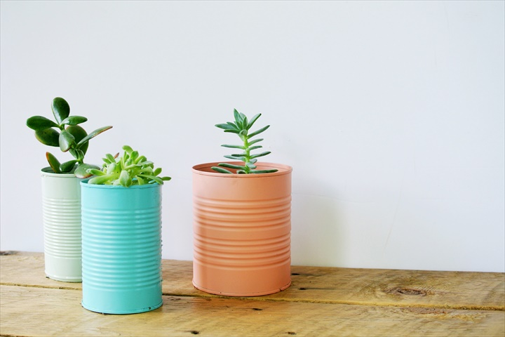 Easy DIY Tin Can Planters
