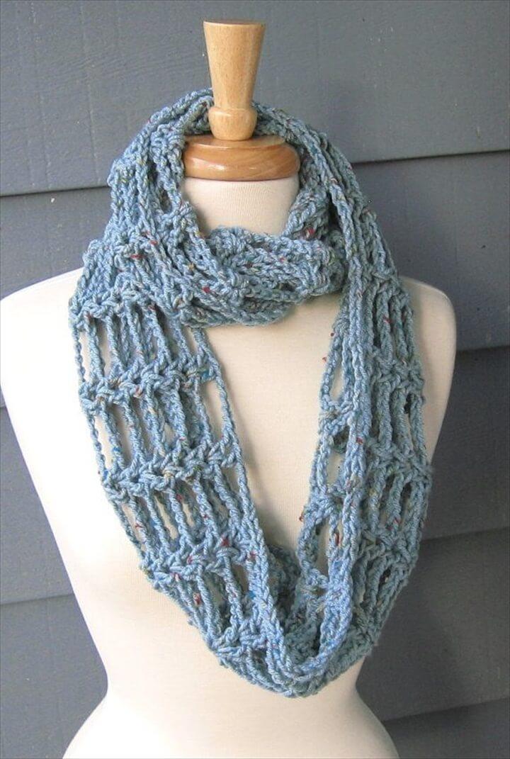 Scarfs Cowls, Diy Crochet Infinity Scarfs,