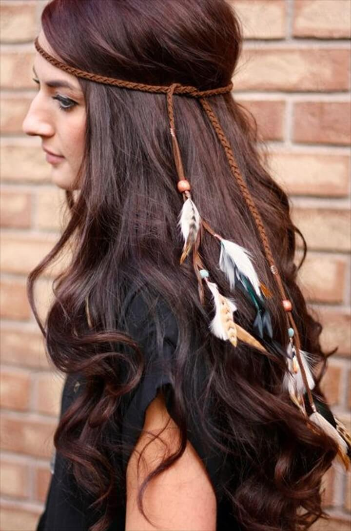 Boho feather headdress