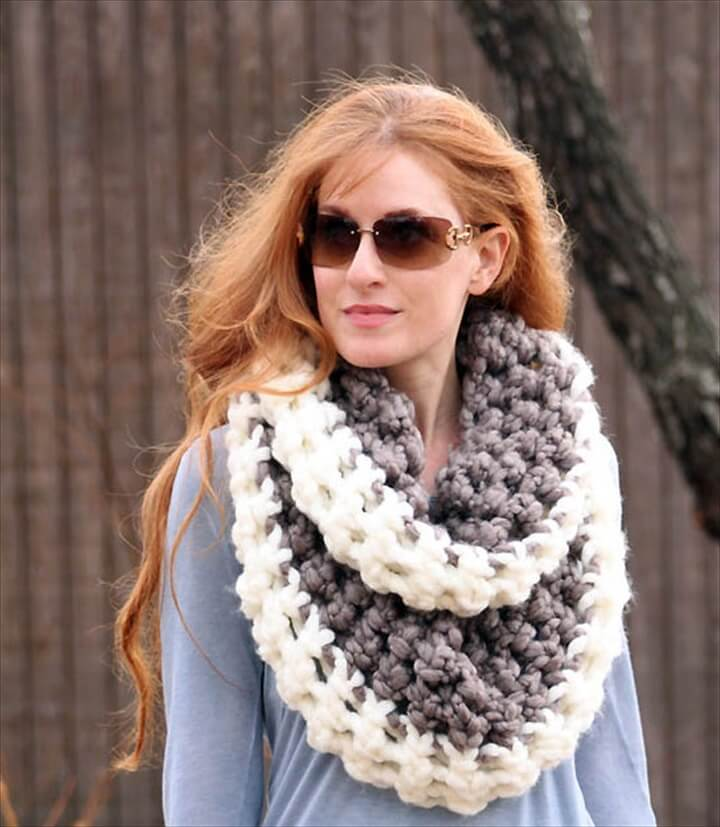 Chunky Two Tone Scarf