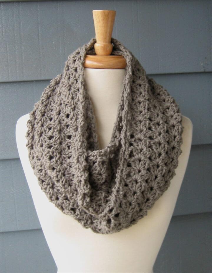 Easy Diy Crochet Infinity Scarf