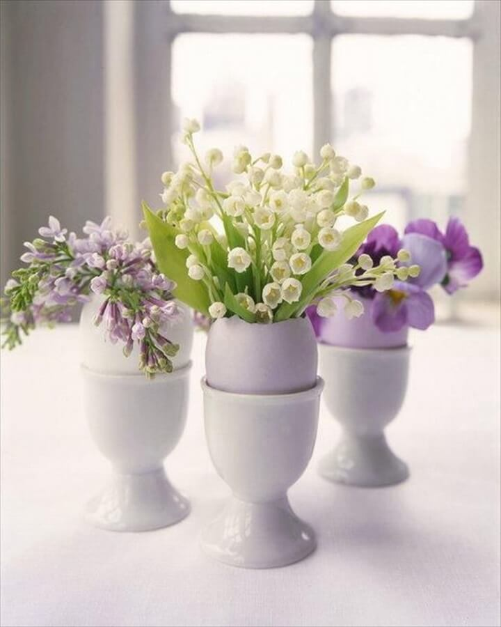 DIY Flower Arrangements in Eggshells