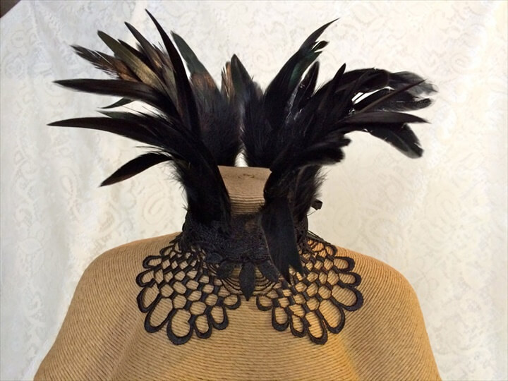 Maleficent feather collar