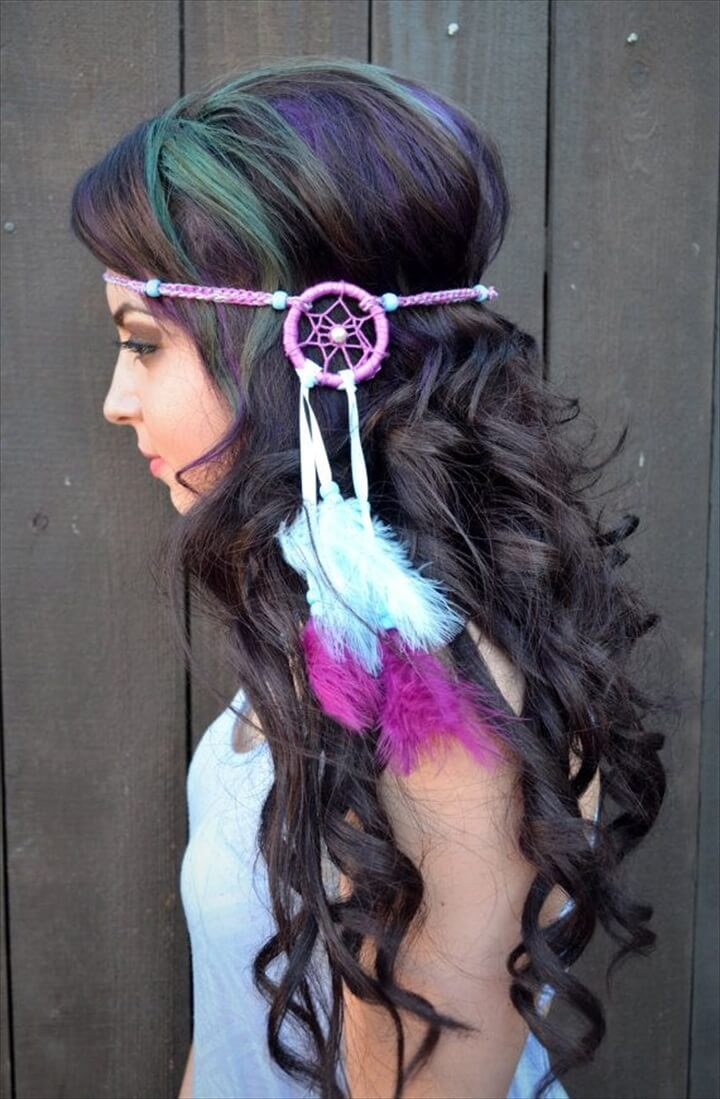 Dreamcatcher Feather Headband