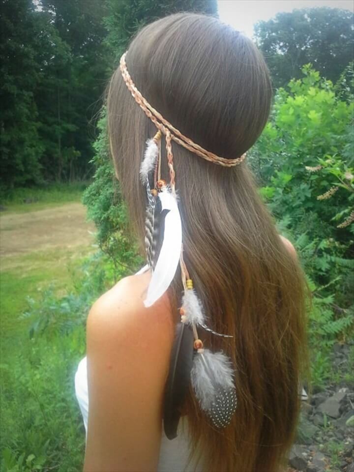 Elegant Native American Style Feather Headband
