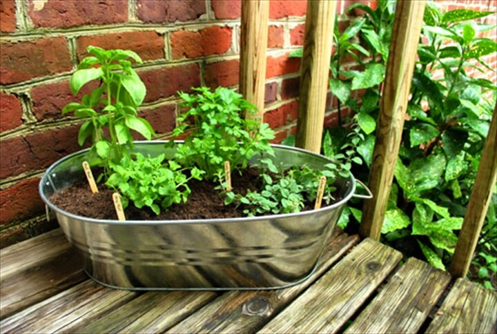 DIY Metal Balcony Herb Garden