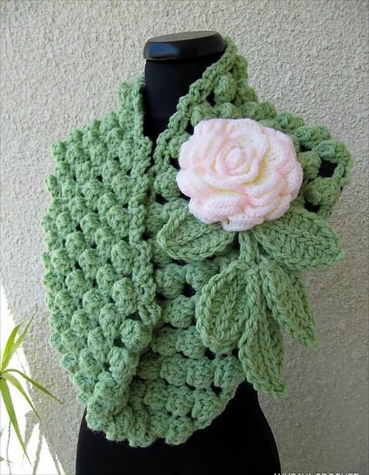"Ravelry: Infinity Scarf ""Chunky Popcorn Stitch"" Tutorial Pattern pattern by Lyubava Crochet"