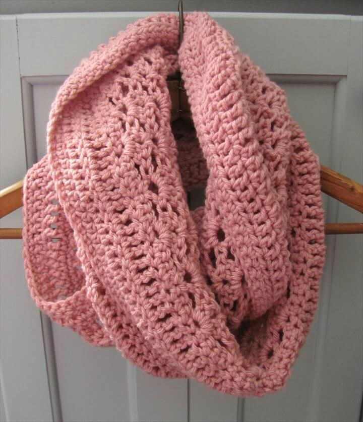 Lacy Shells Infinity Scarf