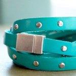 zink belt leather bracelet