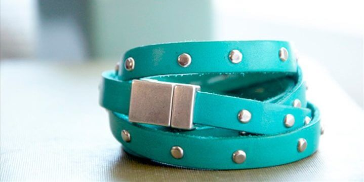 zink belt leather bracelet