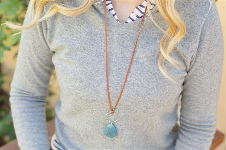DIY Leather and Stone Necklace with Special Portland