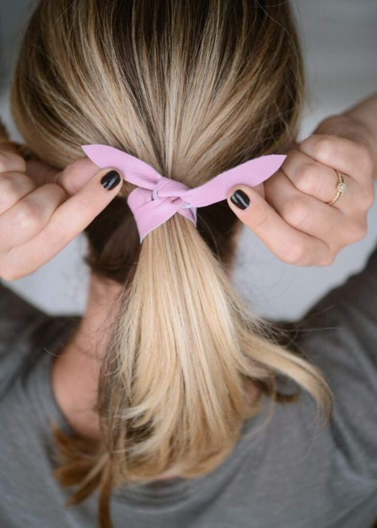 DIY: Leather Hair Tie
