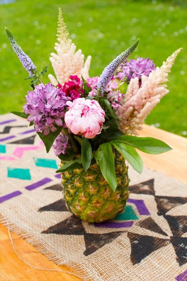 DIY Pineapple Floral Arrangement