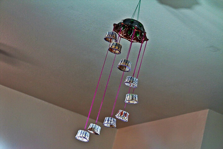 Recycled: Wind Chime Craft made out of Plastic Cups