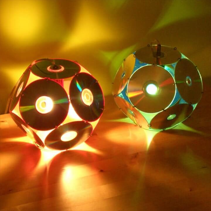 Lampshades From Old CD's Lamps & Lights