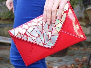 Broken CD Becomes Glamorous Clutch