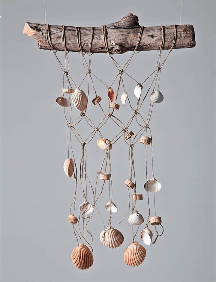 DIY Sea shell Wind Chime