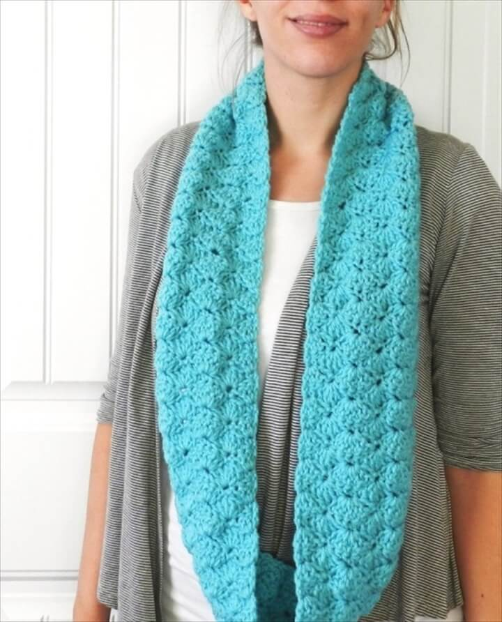 Shell Infinity Scarf