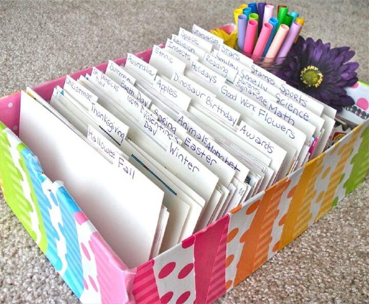 Diy Desk Organization Cardboard
