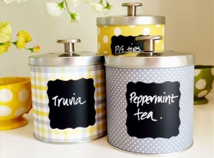 Upcycling Tin Cans with Scrapbooking Paper