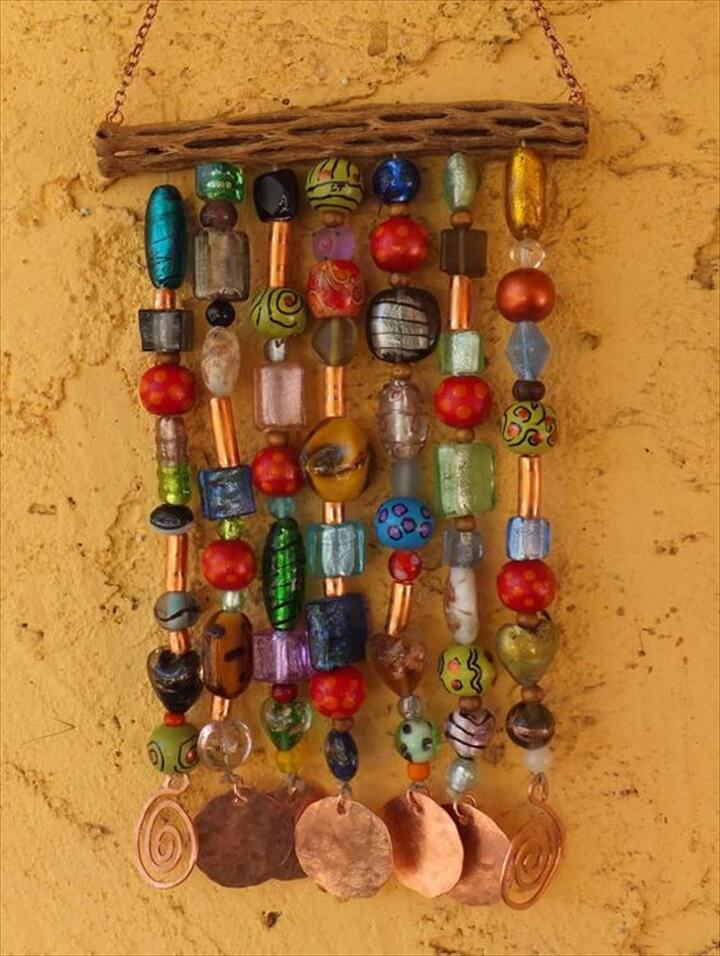 Glass Bead Wind Chime. Easy to make and very pretty!