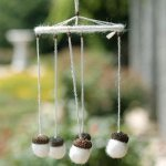 White Acorn Wind Chime