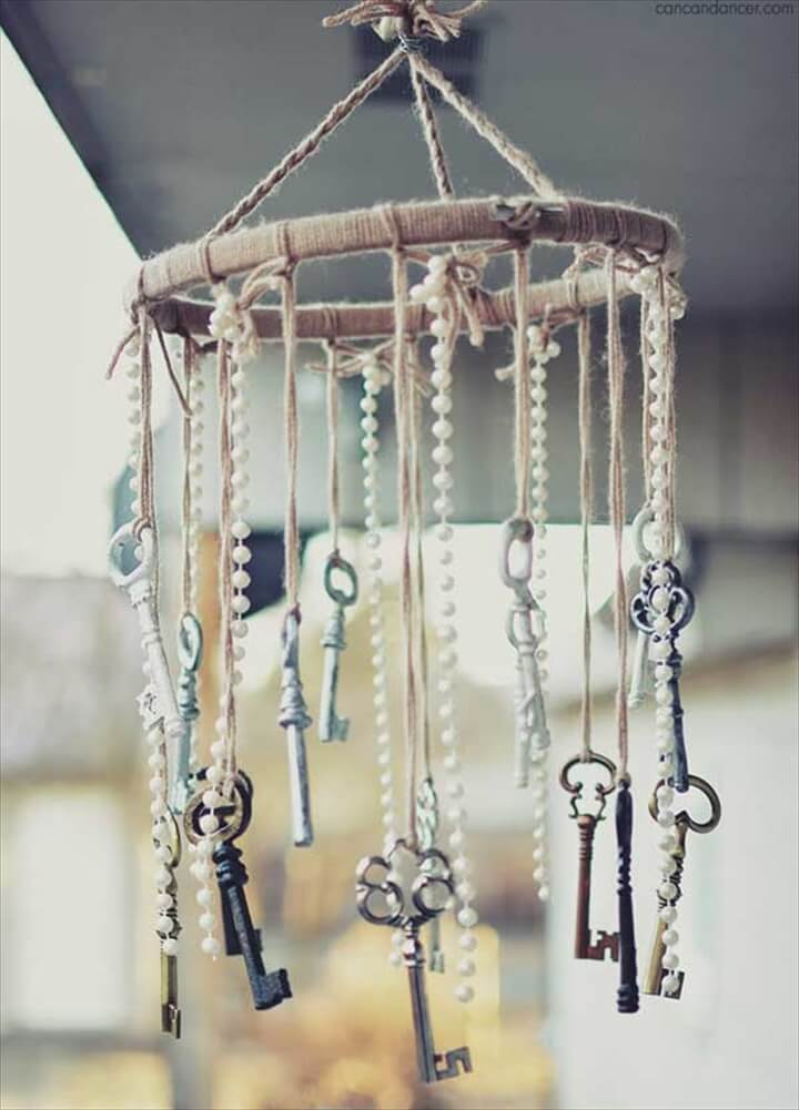 keys wind chime