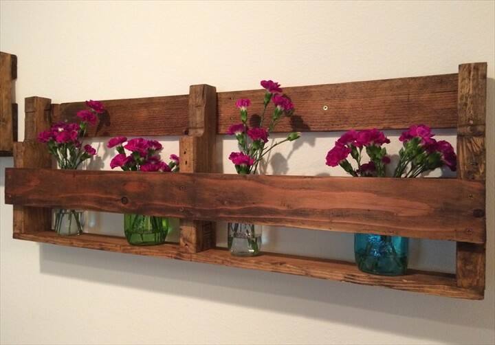 wooden shelf