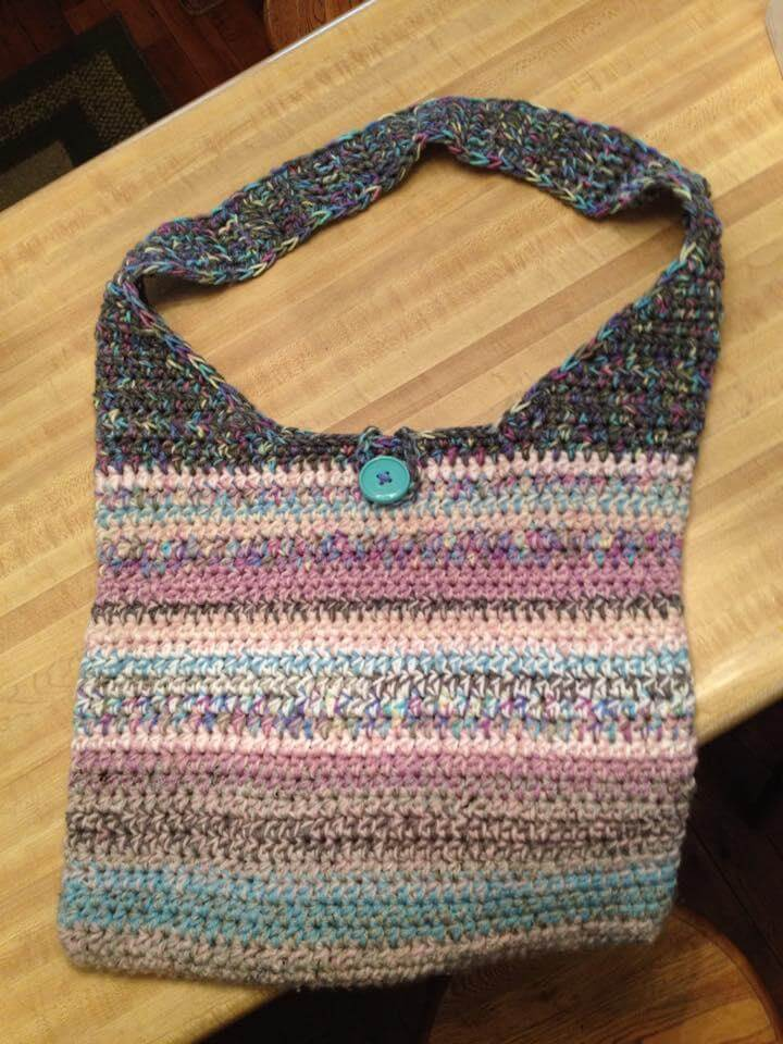completed this totally adorable crochet tote bag