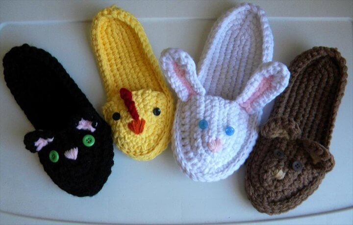 crochet slippers for cute kid's
